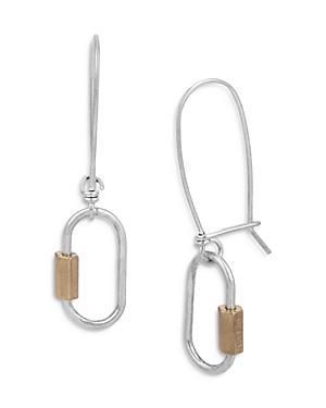 Allsaints Shepherd's Hook Carabiner Drop Earrings