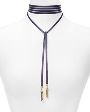 Baublebar Velvet Lariat Choker Necklace, 12