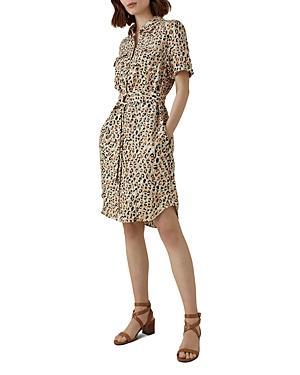 Karen Millen Leopard Print Shirt Dress