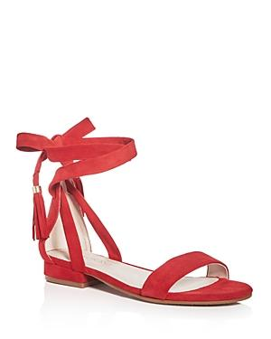 Kenneth Cole Valen Suede Ankle Wrap Sandals