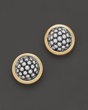 Lagos Sterling Silver Caviar Button Earrings