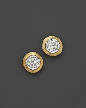 Marco Bicego Delicati Earring In 18k Yellow Gold With Pave Diamonds