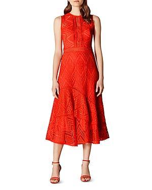 Karen Millen Lace A-line Midi Dress