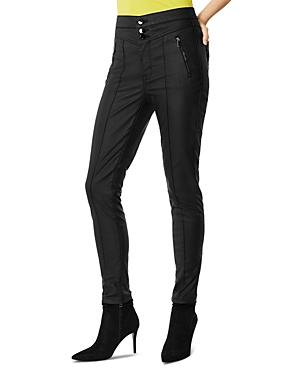 Karen Millen Coated Corset Skinny Jeans In Black