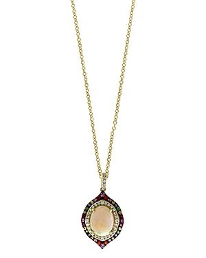 Bloomingdale's Rainbow Gemstone & Diamond Pendant Necklace In 14k Yellow Gold, 18 - 100% Exclusive