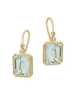 Bloomingdale's Prasiolite & Diamond Accent Drop Earrings In 14k Yellow Gold - 100% Exclusive