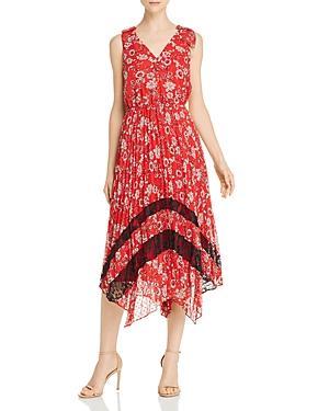 Nanette Nanette Lepore Pleated Floral Dress