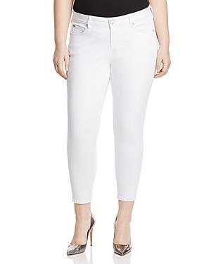 Slink Jeans Ankle Slim Jeans In White