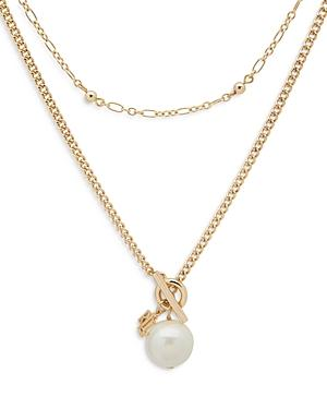 Lauren Ralph Lauren Double-strand Imitation Pearl Pendant Necklace, 18