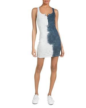 Michael Lauren Runner Smoke Splatter Print Dress