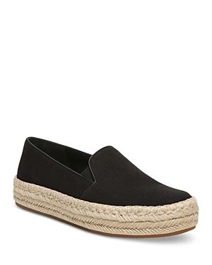 Vince Women's Upton Organic Canvas Espadrille Slip On Platform Sneakers