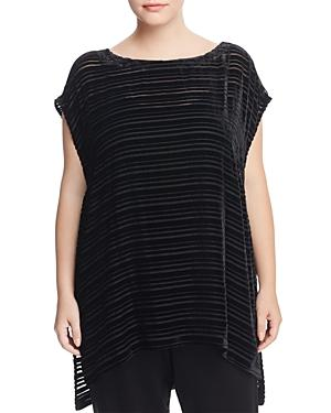 Eileen Fisher Plus Velvet Burnout Stripe Tunic