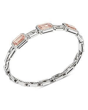 David Yurman Novella Three-stone Bracelet With Morganite And Pave Diamonds