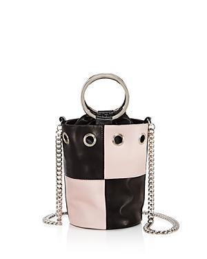 Delphine Delafon Ring Handle Small Leather Bucket Bag