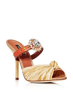 Dolce & Gabbana Women's Embellished High-heel Slide Sandals