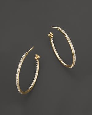 Temple St. Clair Pave Hoop Earrings In 18k Yellow Gold, 1.57 Ct. T.w.