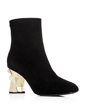 Giuseppe Zanotti Women's Iceblock Suede Block-heel Booties