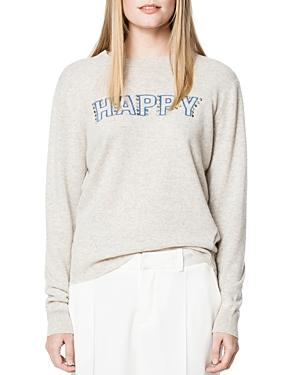 Zadig & Voltaire Happy Embellished Cashmere Sweater