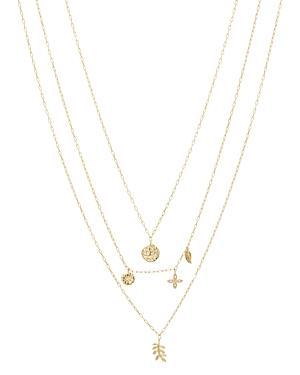 Gorjana Garden Charm Layered Pendant Necklace, 16-19