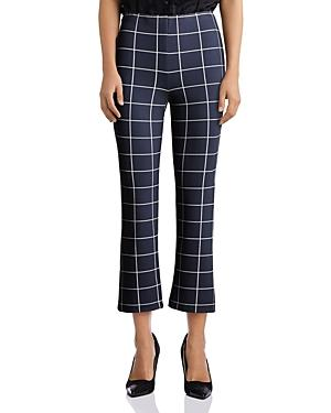 Bailey 44 Jessie Window-pane-print Pants
