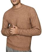 Reiss Teddy Ribbed Mock-neck Sweater
