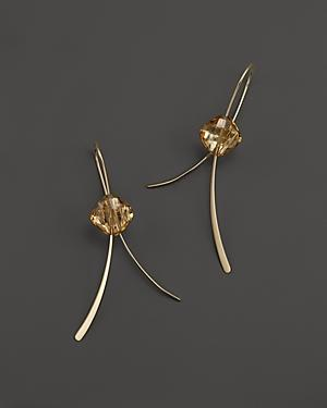 14k Yellow Gold And Citrine Drop Earrings - 100% Exclusive