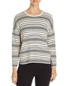 Eileen Fisher Petites Striped Organic-cotton Top