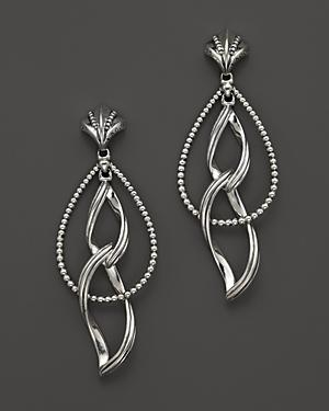 Lagos Sterling Silver Caviar Double Marquis Earrings
