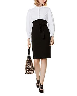 Karen Millen Corset Shirt-detail Sheath Dress