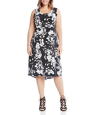 Karen Kane Plus Floral Midi Dress