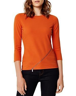 Karen Millen Asymmetric Zip Detail Top