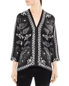 Sandro Gillian Printed Top
