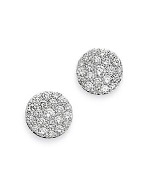 Bloomingdale's Pave Diamond Disc Stud Earrings In 18k White Gold, 2.0 Ct. T.w. - 100% Exclusive