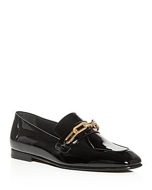 Burberry Women's Chillcot Patent Leather Apron Toe Loafers