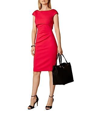 Karen Millen Satin Side-pleat Dress