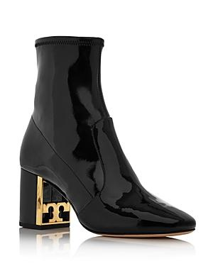 Tory Burch Women's Gigi Patent Leather Block Heel Booties