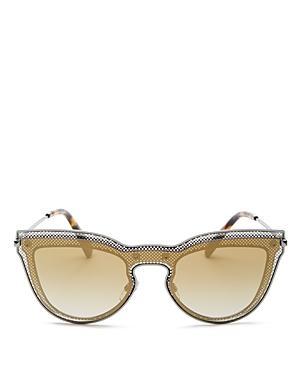 Valentino Mirrored Cat Eye Shield Sunglasses, 135mm
