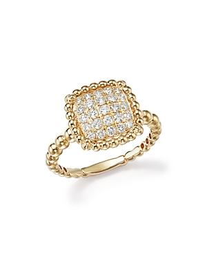 Diamond Beaded Statement Ring In 14k Yellow Gold, .50 Ct. T.w. - 100% Exclusive