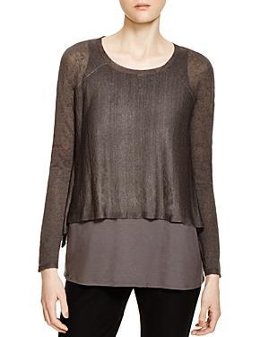 Eileen Fisher Petites Cascade Crop Sweater