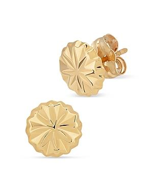 Bloomingdale's Button Stud Earrings In 14k Yellow Gold - 100% Exclusive