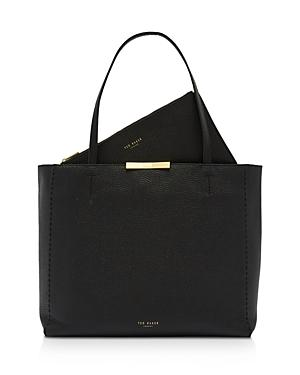 Ted Baker Clarkia Pebbled Leather Shopper Tote