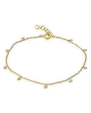 Zoe Lev 14k Yellow Gold Diamond Charm Anklet