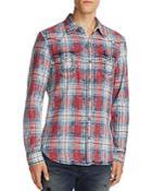True Religion Western Plaid Flannel Regular Fit Button Down Shirt