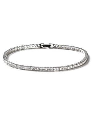 Crislu Square Stone Tennis Bracelet