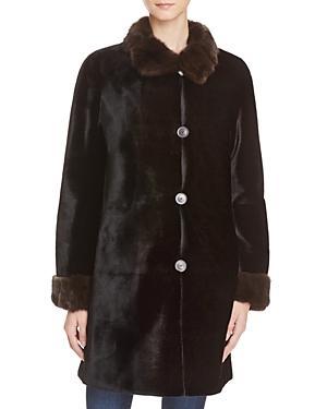 Maximilian Furs X Trilogy Reversible Sheared Mink Coat - 100% Exclusive
