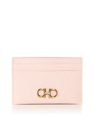 Salvatore Ferragamo Double Gancini Leather Card Case