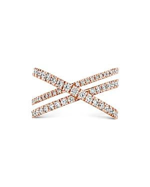 Hayley Paige For Hearts On Fire 18k Rose Gold Harley Wrap Power Band With Diamonds & Pink Sapphire