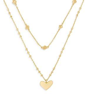 Kendra Scott Ari Heart Layered Pendant Necklace, 14-16