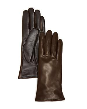Bloomingdale's Leather Tech Gloves