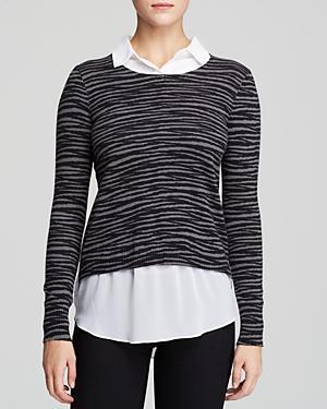Dknyc Mixed Media Sweater